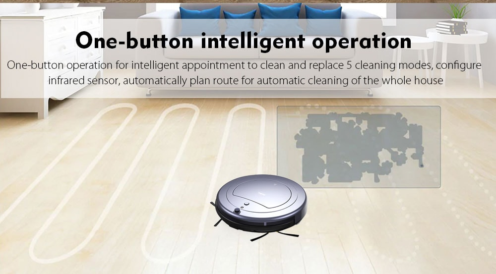 XinBot A1S háztartási seprőmosó automata útvonaltervezés Nagyszívású intelligens seprő robot - Platinum kínai dugó (2 tűs)