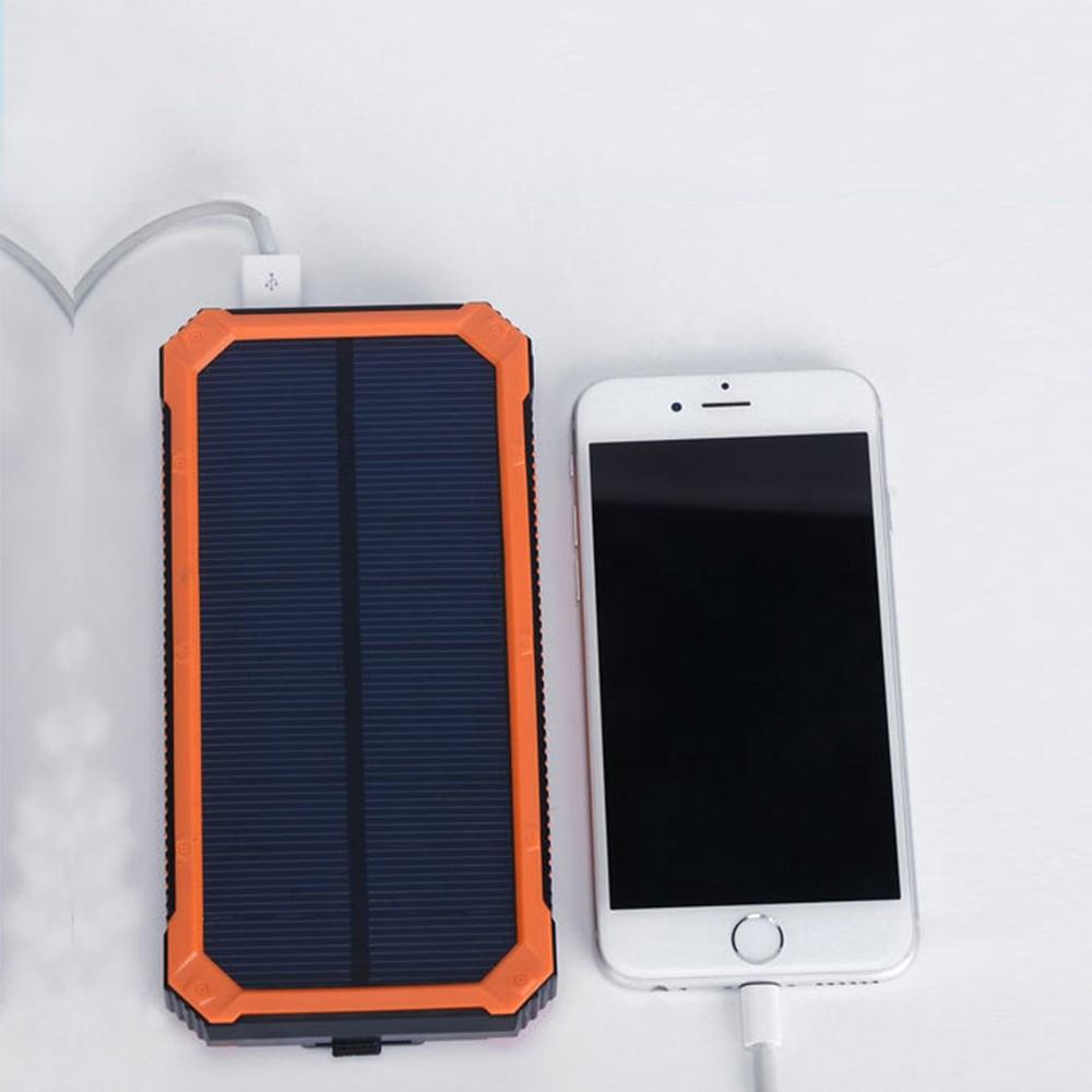 XY - T2 Polimer Solar hordozható akkumulátortöltő 20000 MAH Univerzális újratölthető kincs-narancs