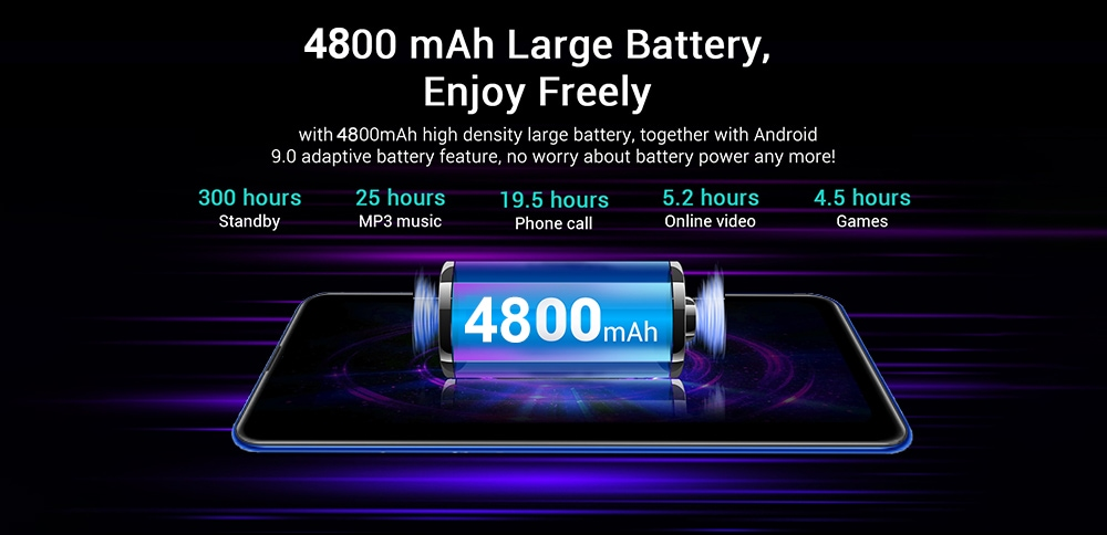 Y50 Pro okostelefon - fekete UK csatlakozó