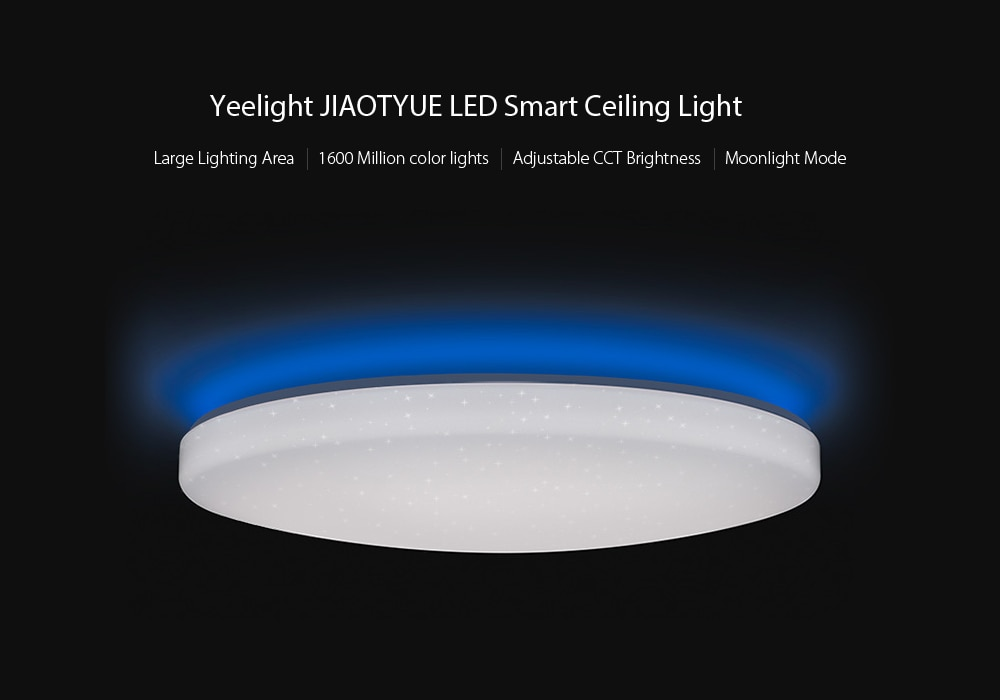 Yeelight JIAOYUE YLXD02YL 650 WiFi / Bluetooth / APP Control Surrounding Ambient Lighting LED Ceiling Light 200 - 240V ( Xiaomi Ecosystem Product )- White Starry Lampshade