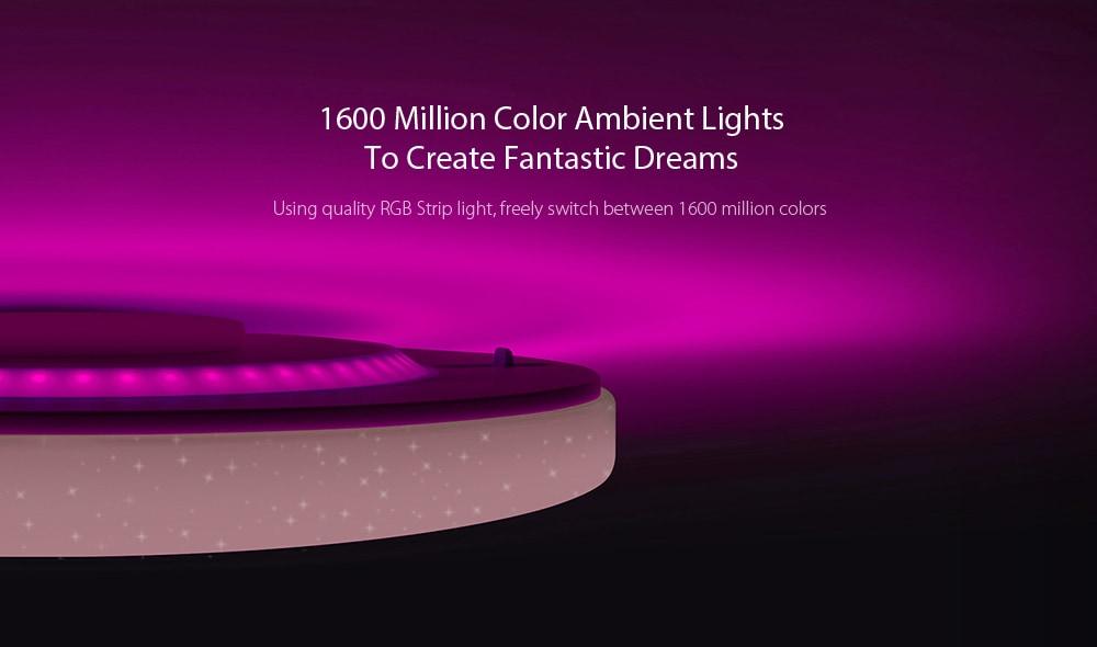 Yeelight JIAOYUE YLXD02YL 650 WiFi / Bluetooth / APP környezetkörnyezeti világítás körülvevő LED mennyezeti lámpa 200 - 240V - fehér fehér lámpa