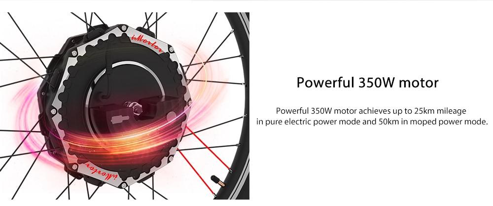 YUNZHILUN 24V - X iMortor 2.0 26 inch Smart Electric Front Bicycle Wheel- Black EU Plug