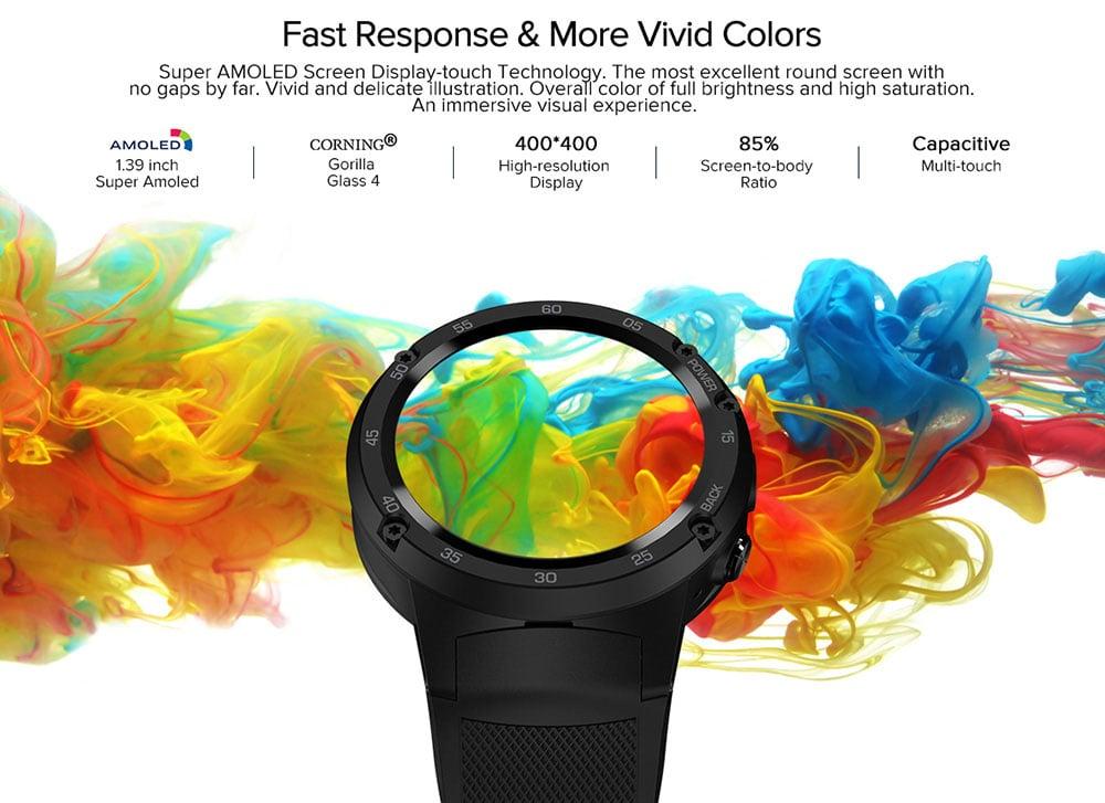 Zeblaze THOR 4 4G Smartwatch telefon 1.39 hüvelykes CORNING Gorilla Glass-Black