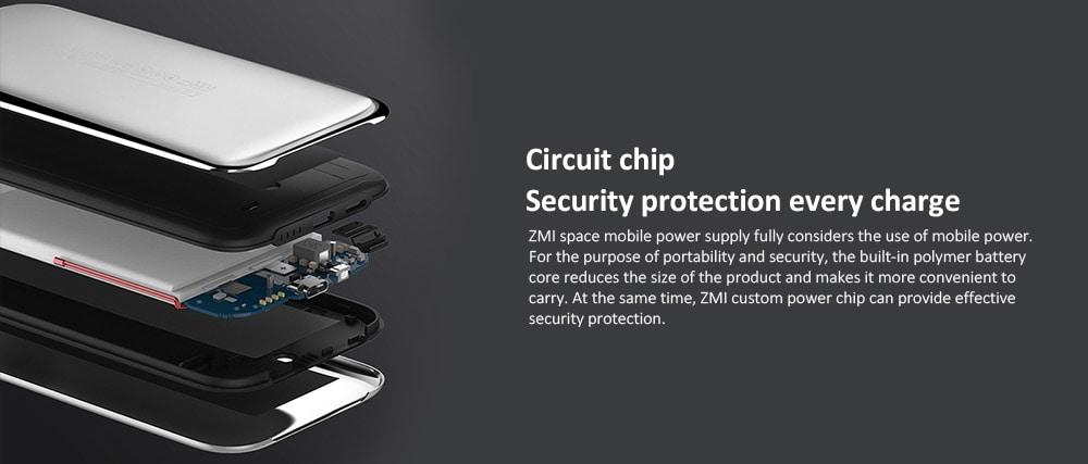 ZMI 6000mAh kreatív hordozható mobil bank (Xiaomi ökoszisztéma termék) - ezüst