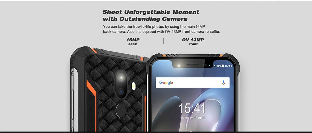 ZOJI Z33 4G Phablet 5.85 inch Android 8.1 MT6739 Quad Core 1.3GHz 3GB RAM 32GB ROM 2.0MP + 16.0MP Rear Camera Fingerprint Sensor 4600mAh Built-in- Orange