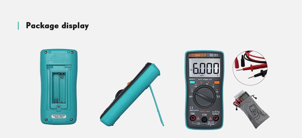 ZT102 nagyképernyős digitális multiméter - zöld