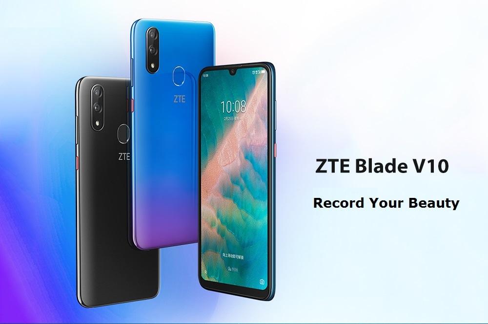 ZTE Blade V10 4G Smartphone 4GB RAM 64GB ROM- Blue